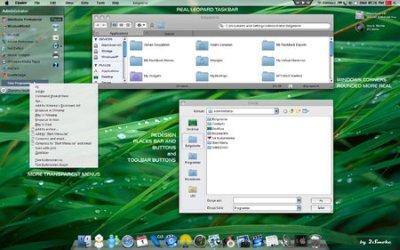 Windows XP SP3 Leopard GlassOSX August 2009 2cdlrm10