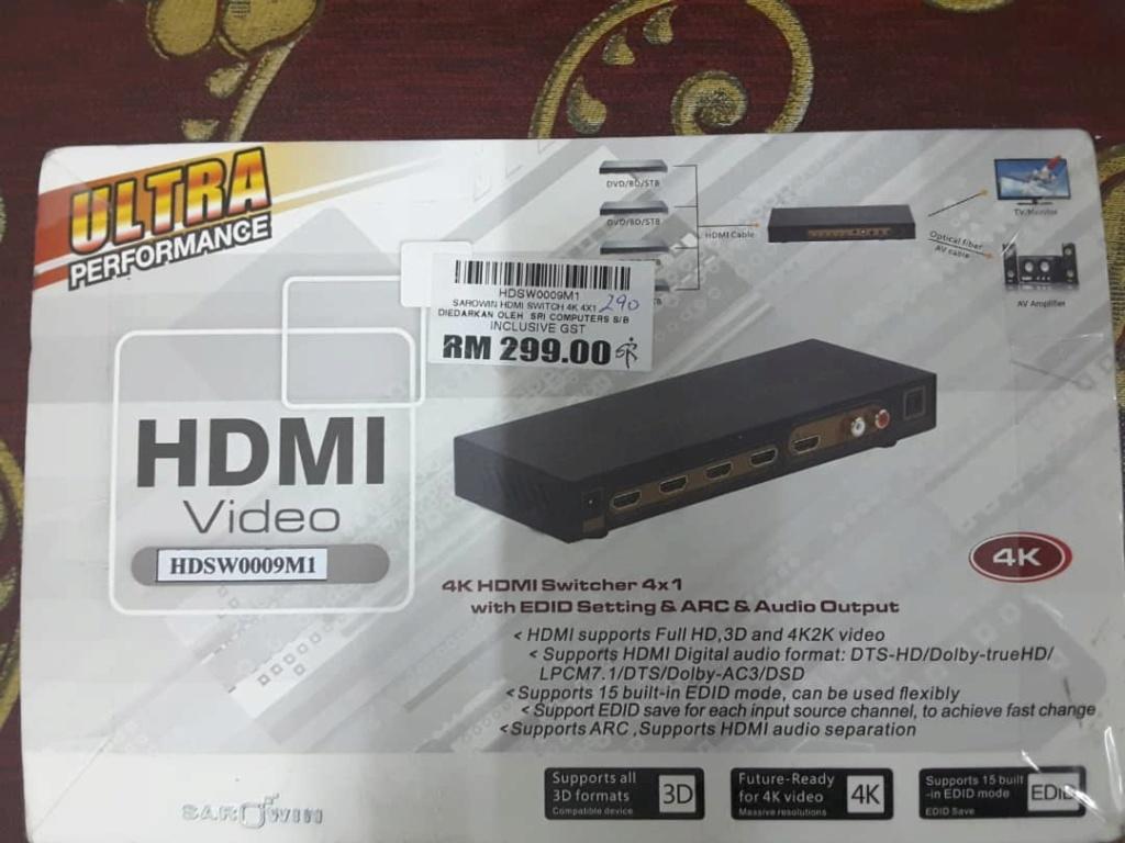 4K HDMI Switcher 4 X 1 Img-2016