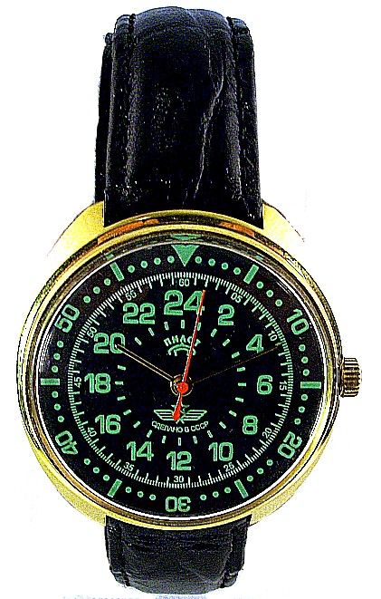 Raketa & Détente Montre de Pilote Exclusive 24 heures Option12