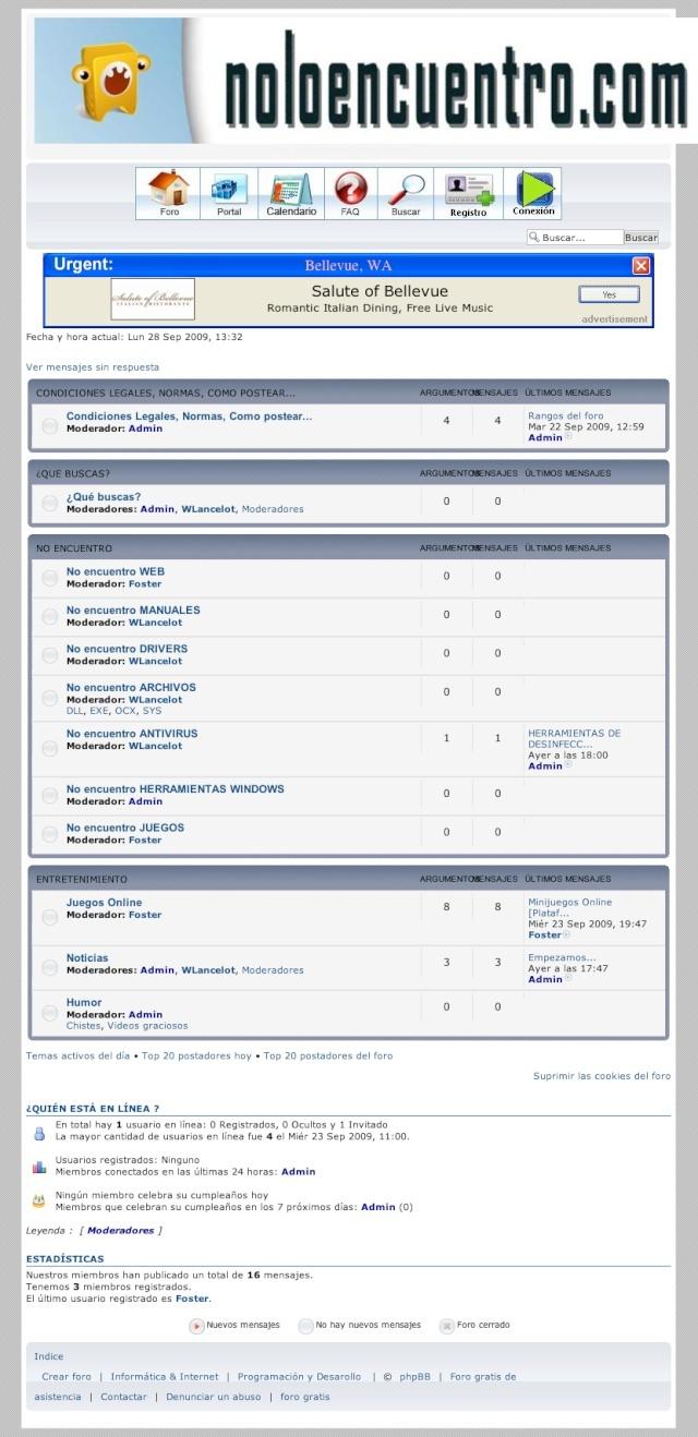 noloencuentro.com - Foro de ayuda de Busquedas por Internet. Pantal10