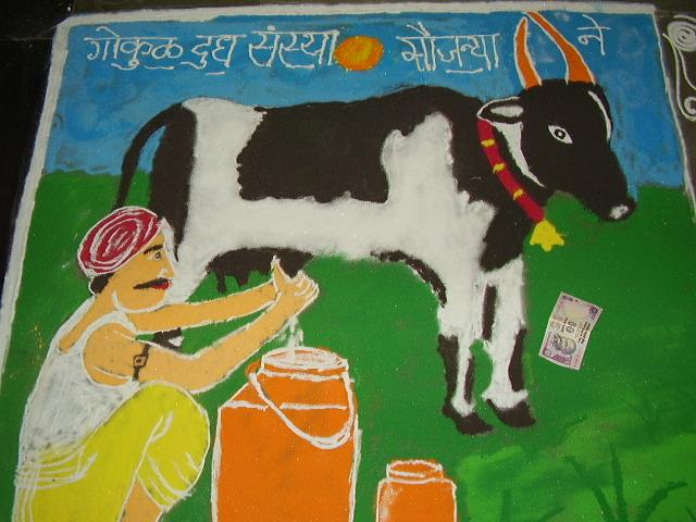 Indian Cow Art ! P1230415