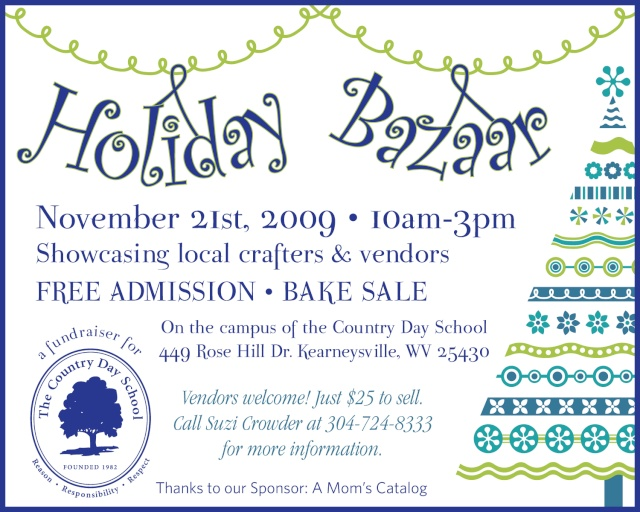 Holiday Bazaar at Country Day School, Nov. 21 Countr11