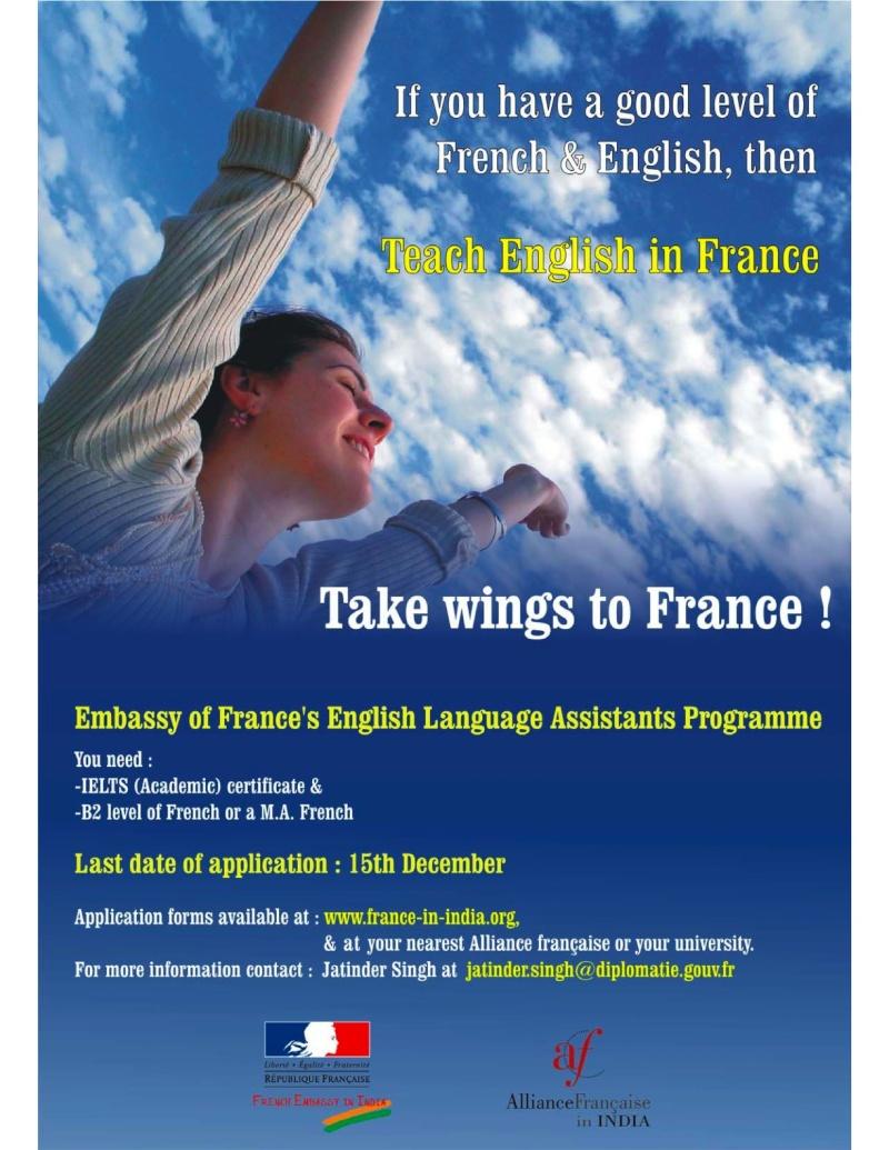 Devenez Assistants d'anglais en France! Poster11