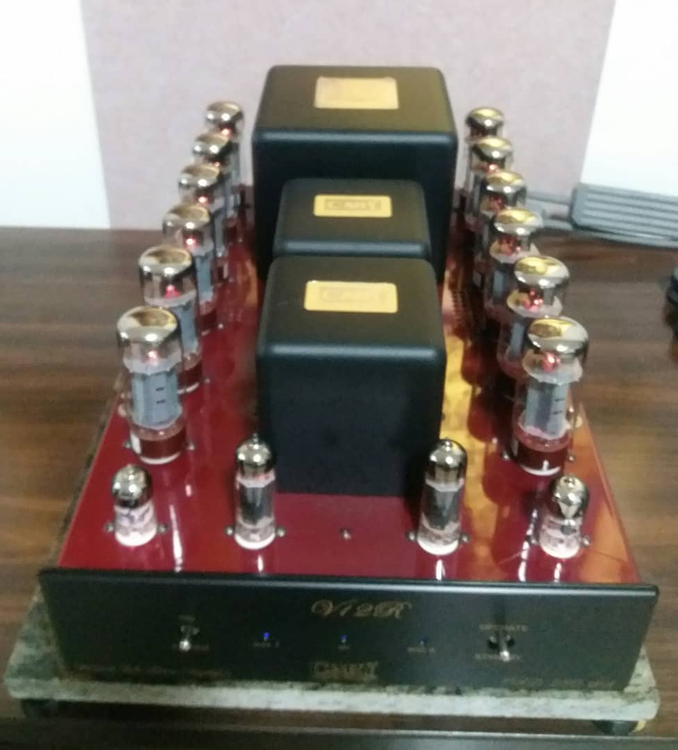 Cary Audio CAD 280SA V12 50Wx2 Triode or 100Wx2 UL Power Amplifier in Jaguar Carnival Red Finish A226