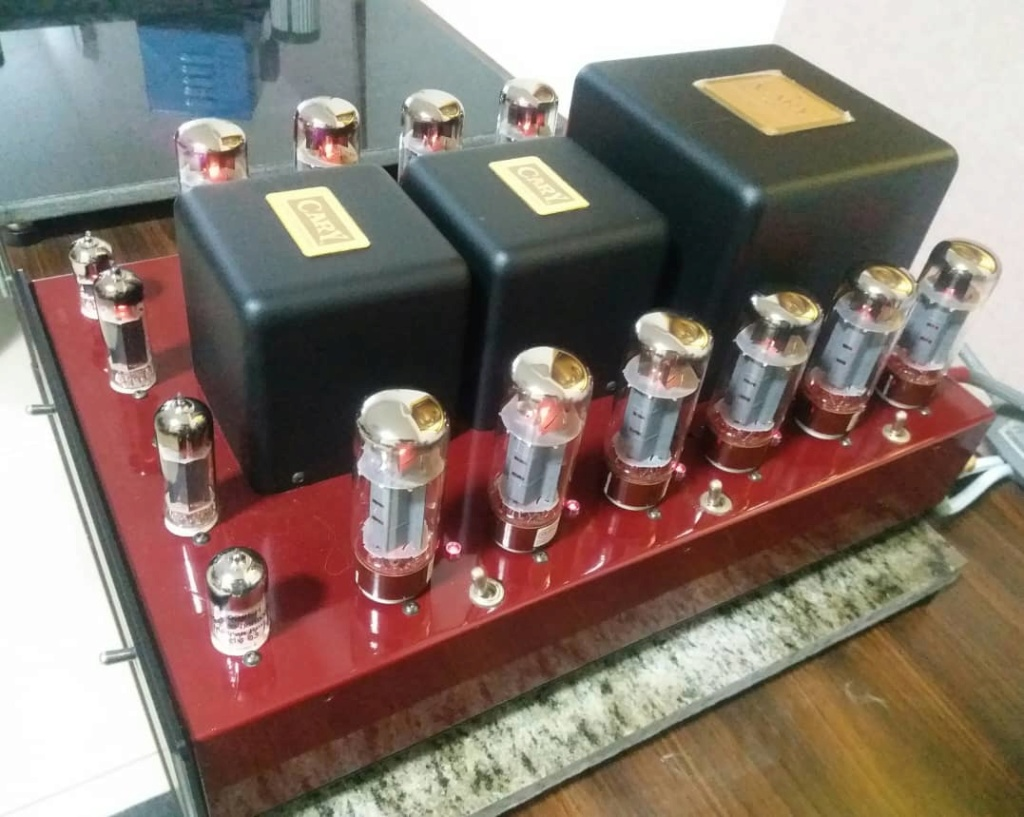 Cary Audio CAD 280SA V12 50Wx2 Triode or 100Wx2 UL Power Amplifier in Jaguar Carnival Red Finish A326