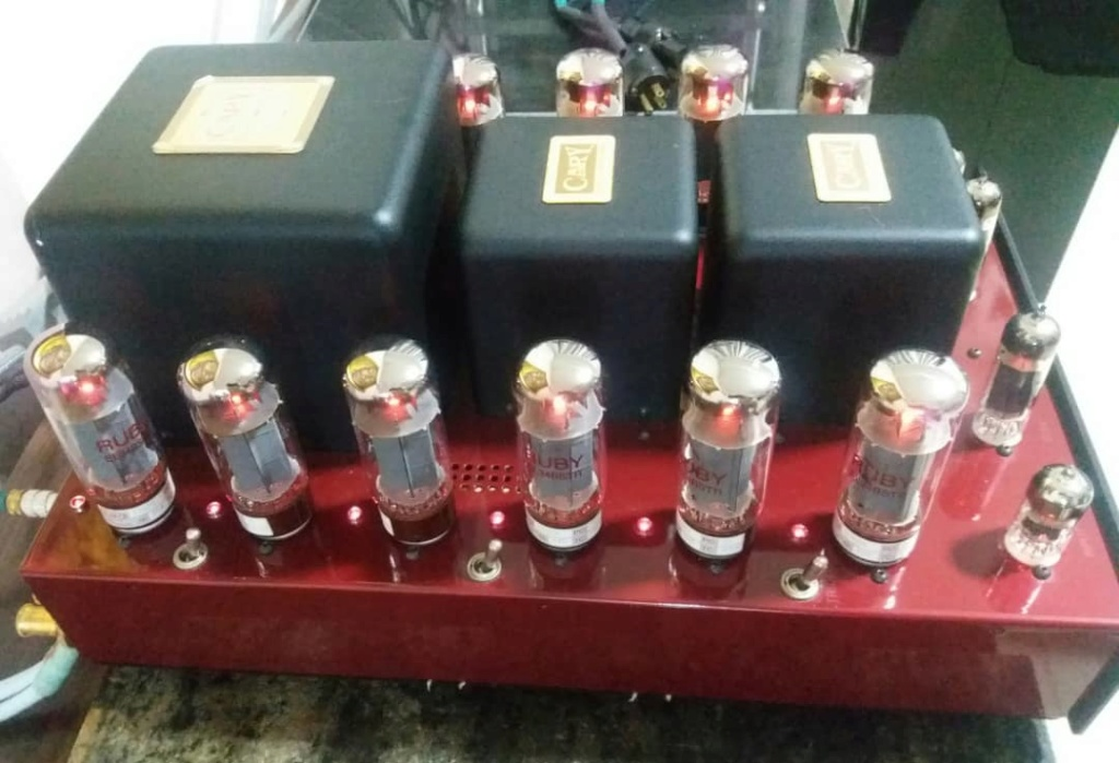 Cary Audio CAD 280SA V12 50Wx2 Triode or 100Wx2 UL Power Amplifier in Jaguar Carnival Red Finish A420