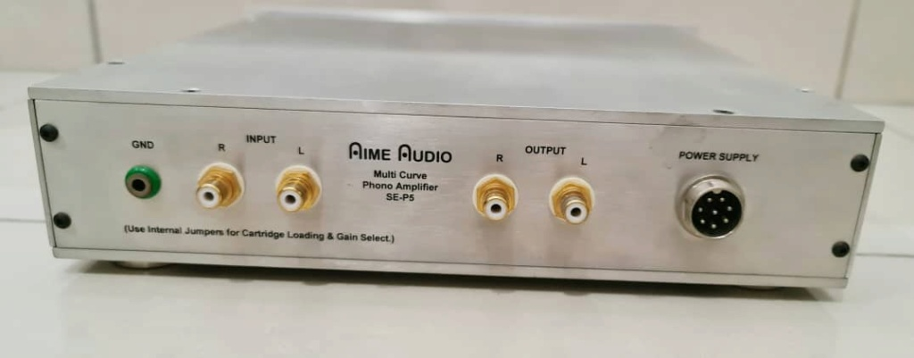 Aime Audio SE-P5 Multi-Curve Phono Amplifier (MM/MC) with Seperate Power Supply Aime210