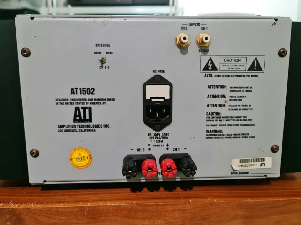 ATI AT1502 2-Channel Power Amplifier Ati310
