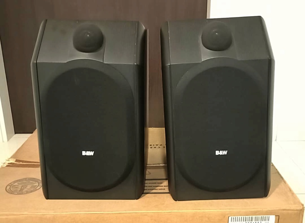SOLD B&W CDM 1 SE Special Edition Speakers - Black Ash Colour Bw211