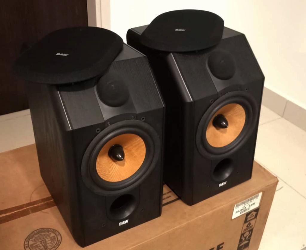 SOLD B&W CDM 1 SE Special Edition Speakers - Black Ash Colour Bw310