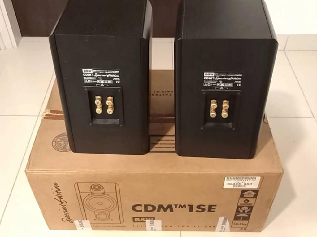 SOLD B&W CDM 1 SE Special Edition Speakers - Black Ash Colour Bw410