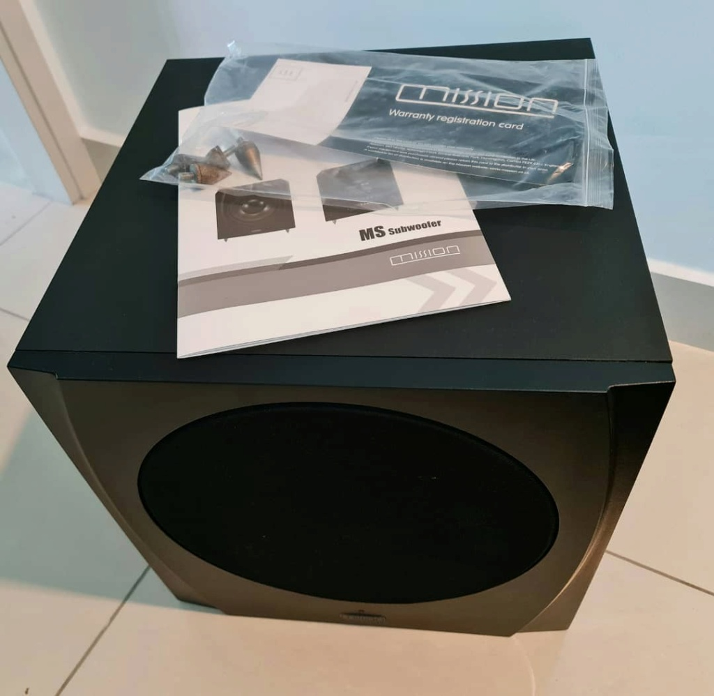 Holfi Integrated,Onkyo TX-NR828 7.2-channel, Mission MS-800 Subwoofer   Missio25