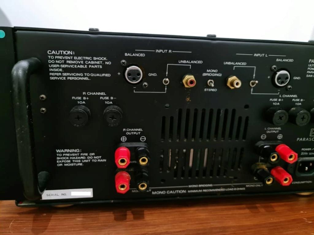 Parasound HCA-2200II Ultra High Current Power Amplifier, by John Curl Paraso16