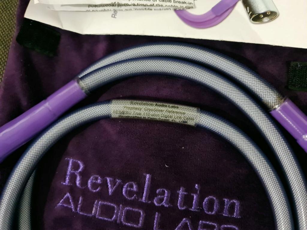 Revelation Audio Labs Prophecy CryoSilver™ Reference True 110-ohm AES/EBU Digital Link Cable - 1.5m Revela10