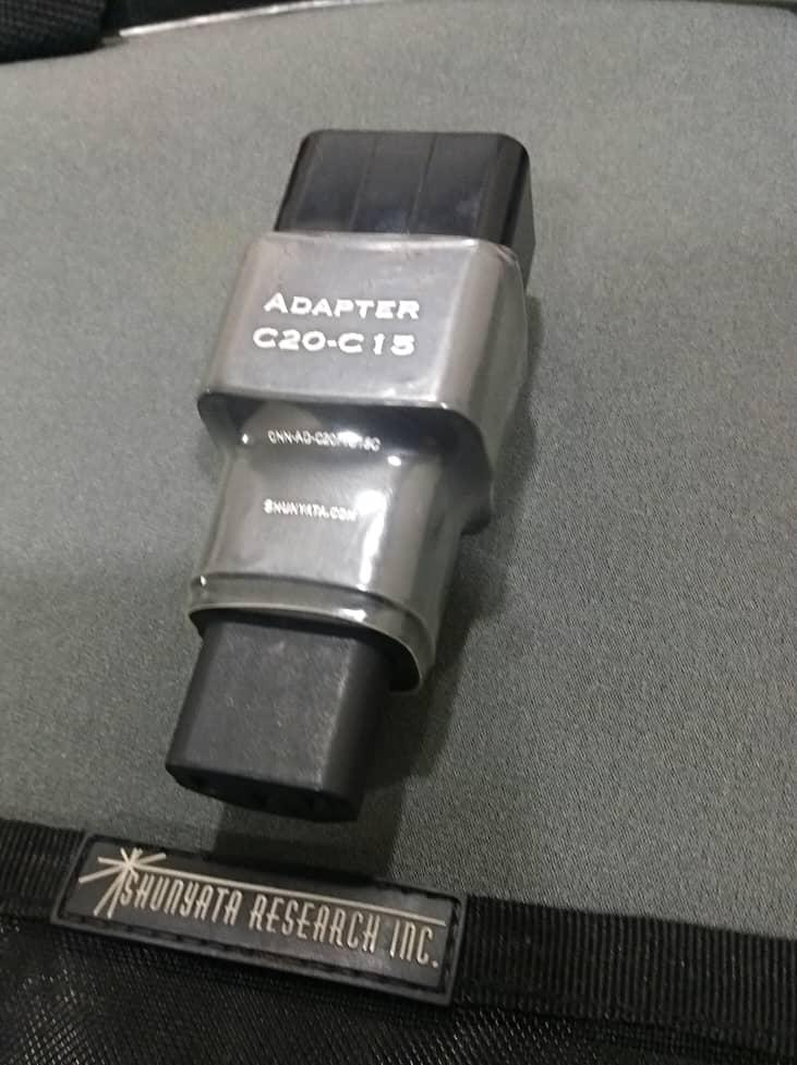 Shunyata Research Anaconda Helix Alpha 20amp IEC Power Cord - 6ft and Shunyata Research Adapter C20-C15 Shun410