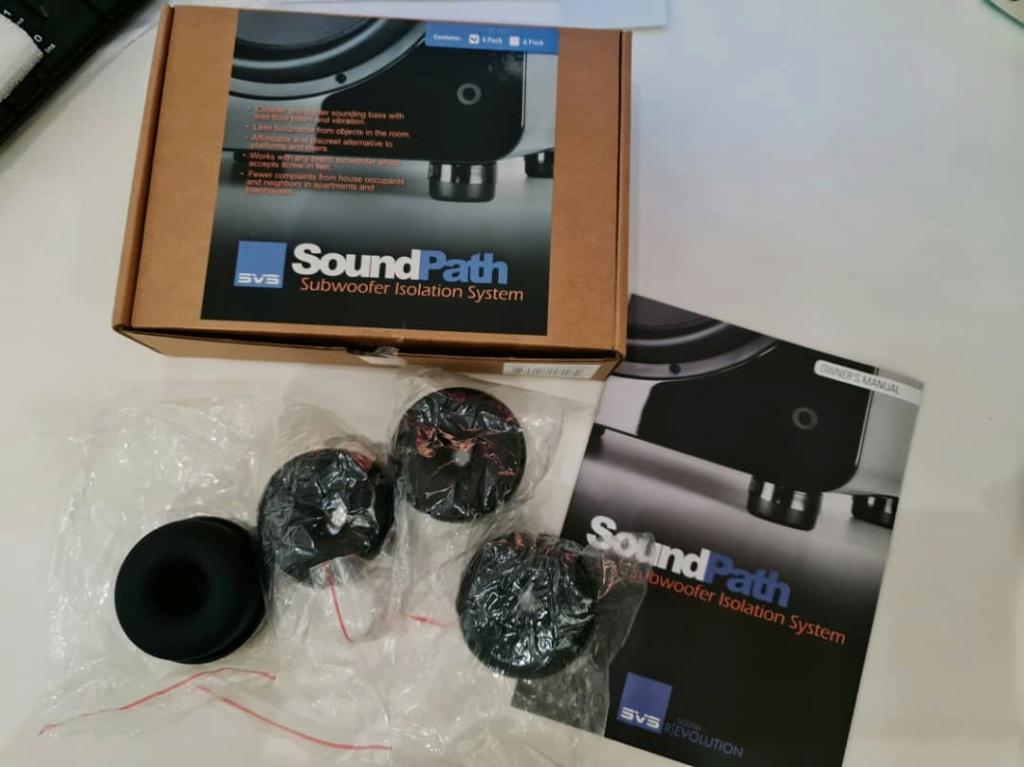SVS Soundpath Subwoofer Isolation Feet 4 Pack - Rubber Soft Vibration Control Soundp11