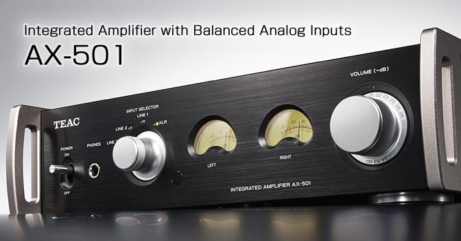Teac AX-501 Integrated Amplifier with Balanced Analogue Inputs (Black) Teac5012