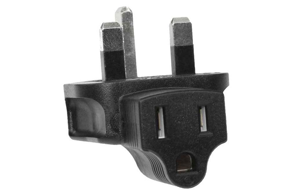 USA-UK 3 Prong Plug Adapter with Correct Phase Polarity Uk510
