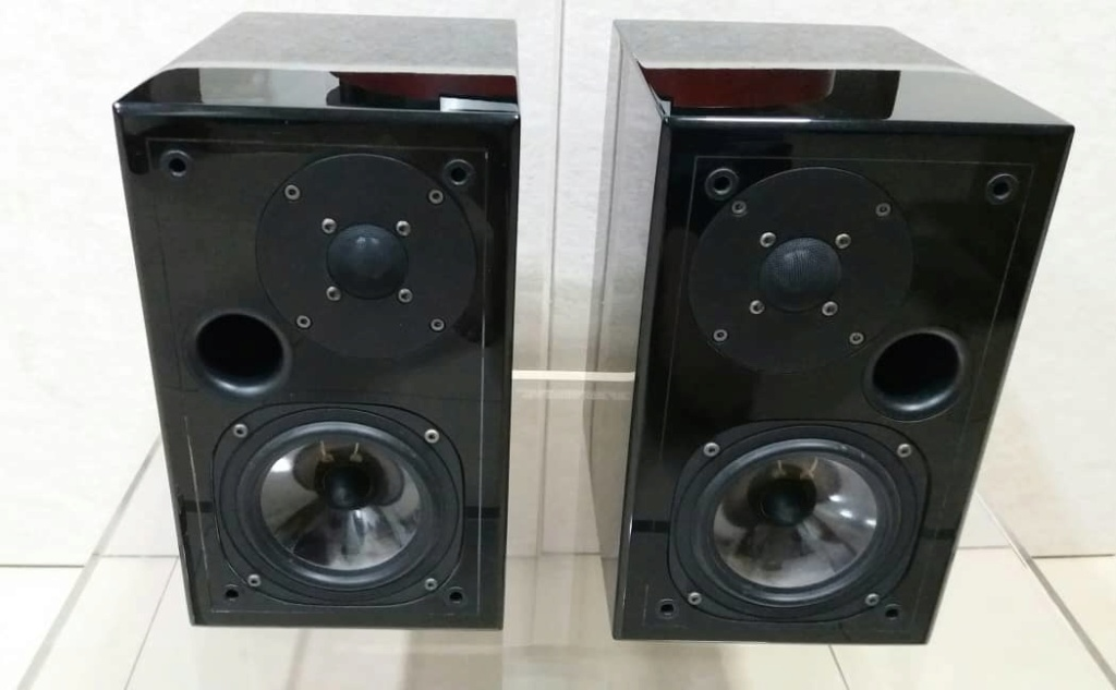 Usher S-520 Bookshelf Speakers - Piano Black Usher310