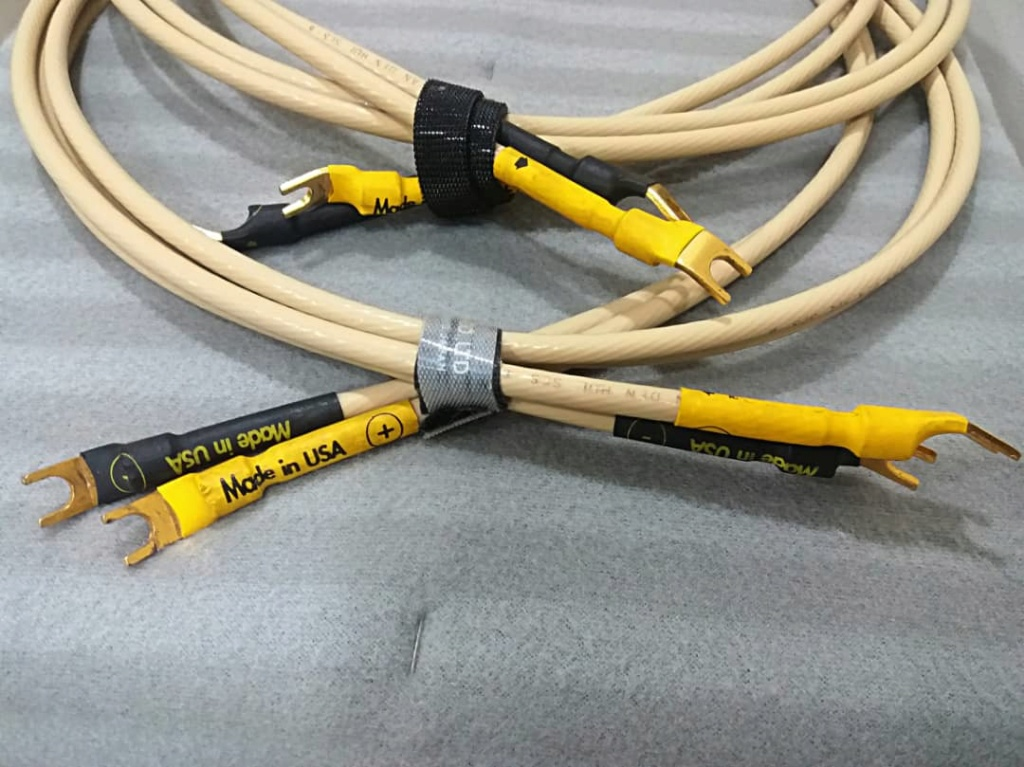 Van Den Hul SCS-6 6gauge Silver Clad Speaker Cables - 2m pair V310