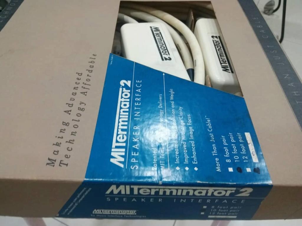 MIT Terminator 2 Speaker Cables - 10ft pair X222