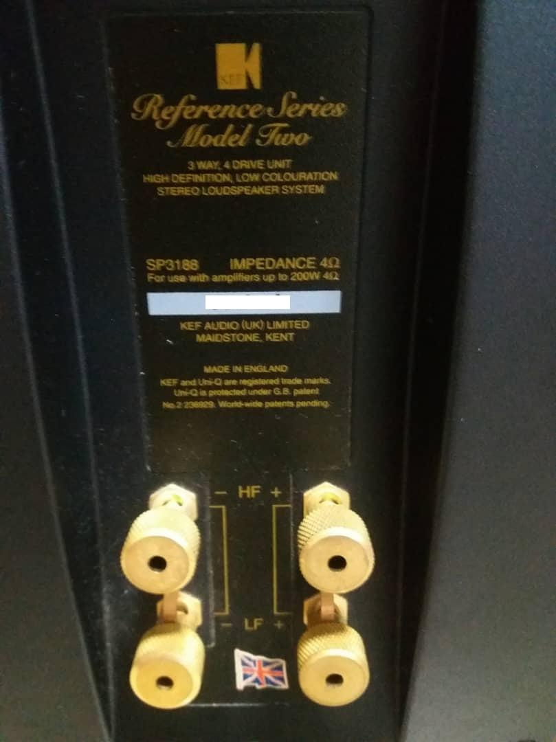KEF Reference Model Two, 3-Way, 4-Driver Floorstanding Loudspeaker - Rosetta Burr Finish X612