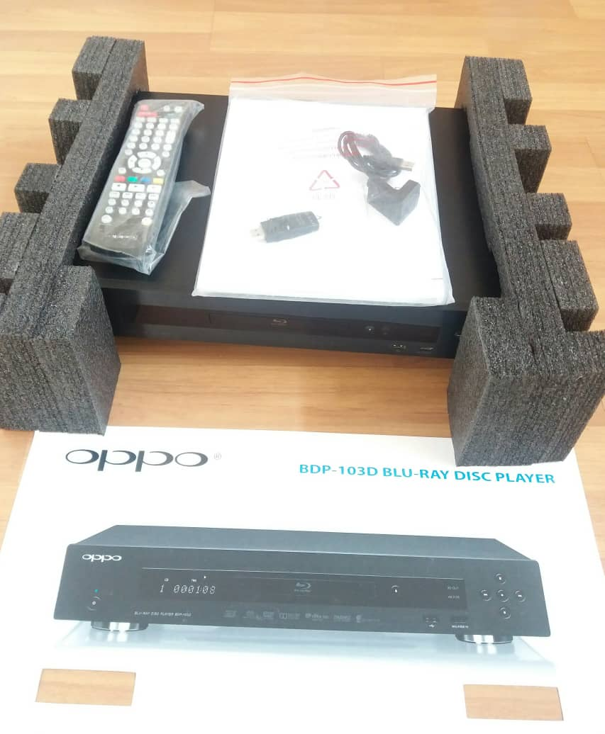 Oppo 103D Blu-ray Player With Jailbreak USB Key Darbee Edition X910