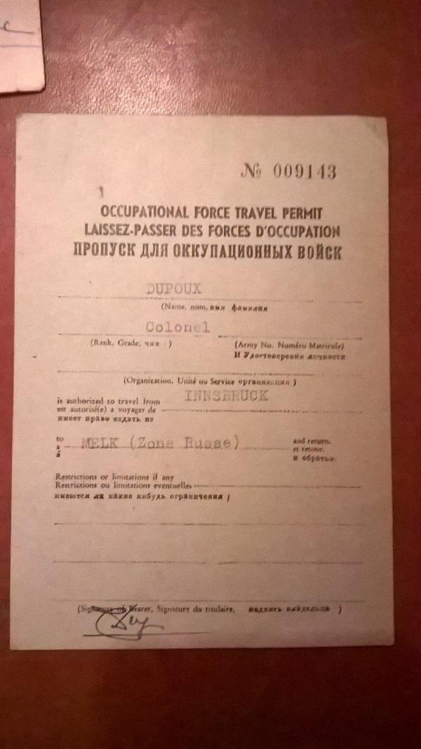 Deux documents fin de guerre F3348410