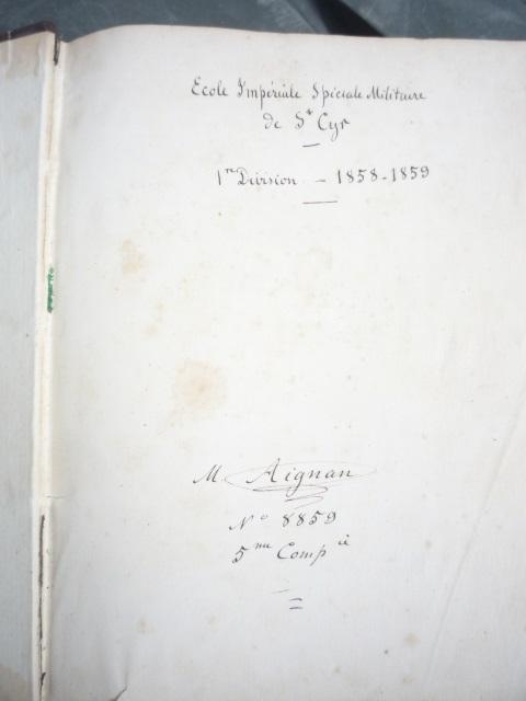 Un ancien livre de cours P1040356