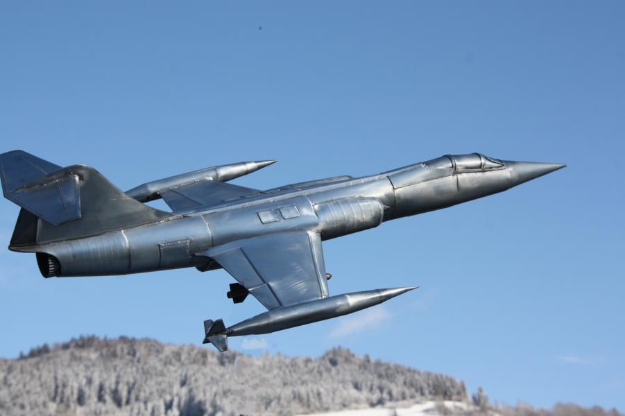 Metallflugzeugmodell F-104 Starfighter in 1/16,5 K800_i45
