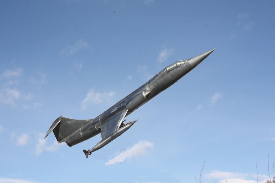 Metallflugzeugmodell F-104 Starfighter in 1/16,5 K800_i48