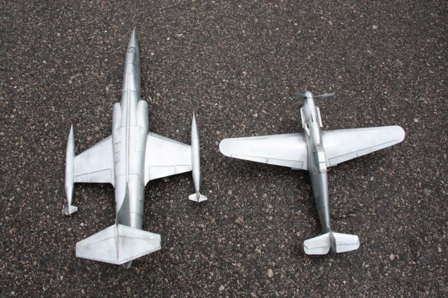Metallflugzeugmodell F-104 Starfighter in 1/16,5 K800_i61