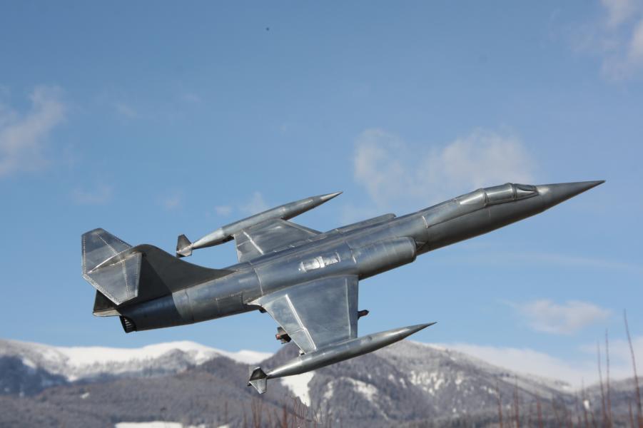 Metallflugzeugmodell F-104 Starfighter in 1/16,5 K800_k11