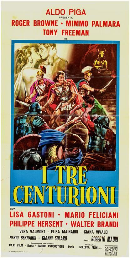 Les Trois Centurions. I tre centurioni. 1964. Roberto Mauri. Clint_14