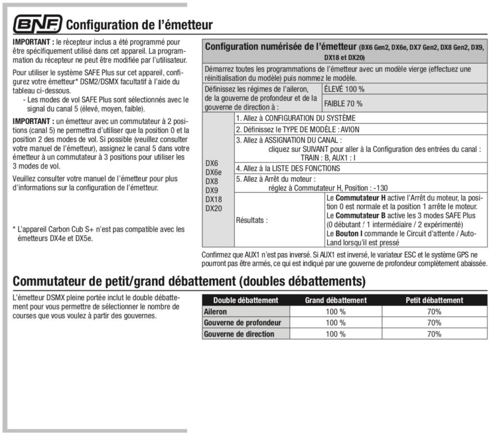 """avion de début DSMX avec fonctions """"spéciales"""" Bnf-co10"""