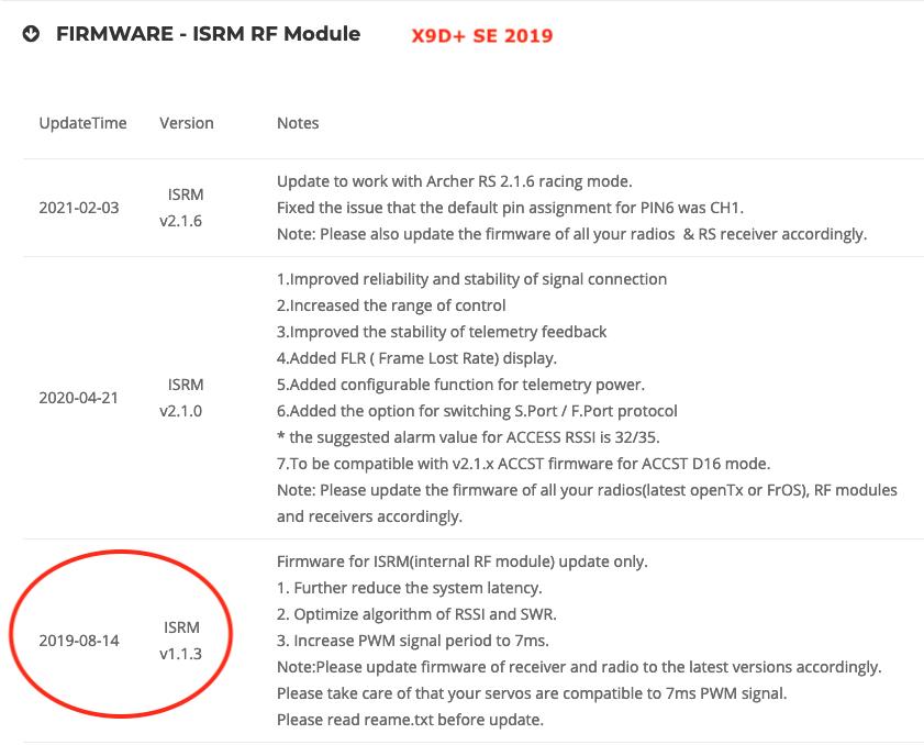 Achat X9 Lite en ACCESS avec récepteur X8R en ACCST Captu145