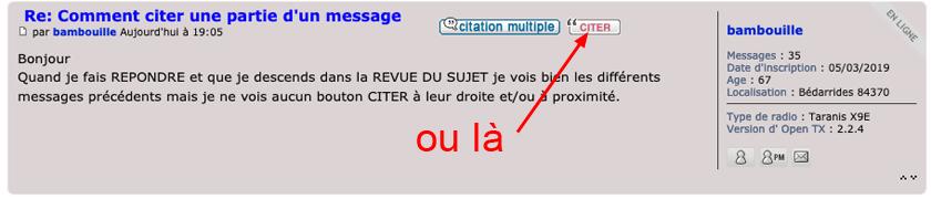 Comment citer une partie d'un message Opp11