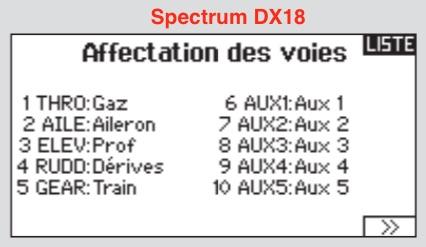"""avion de début DSMX avec fonctions """"spéciales"""" Voies-10"""