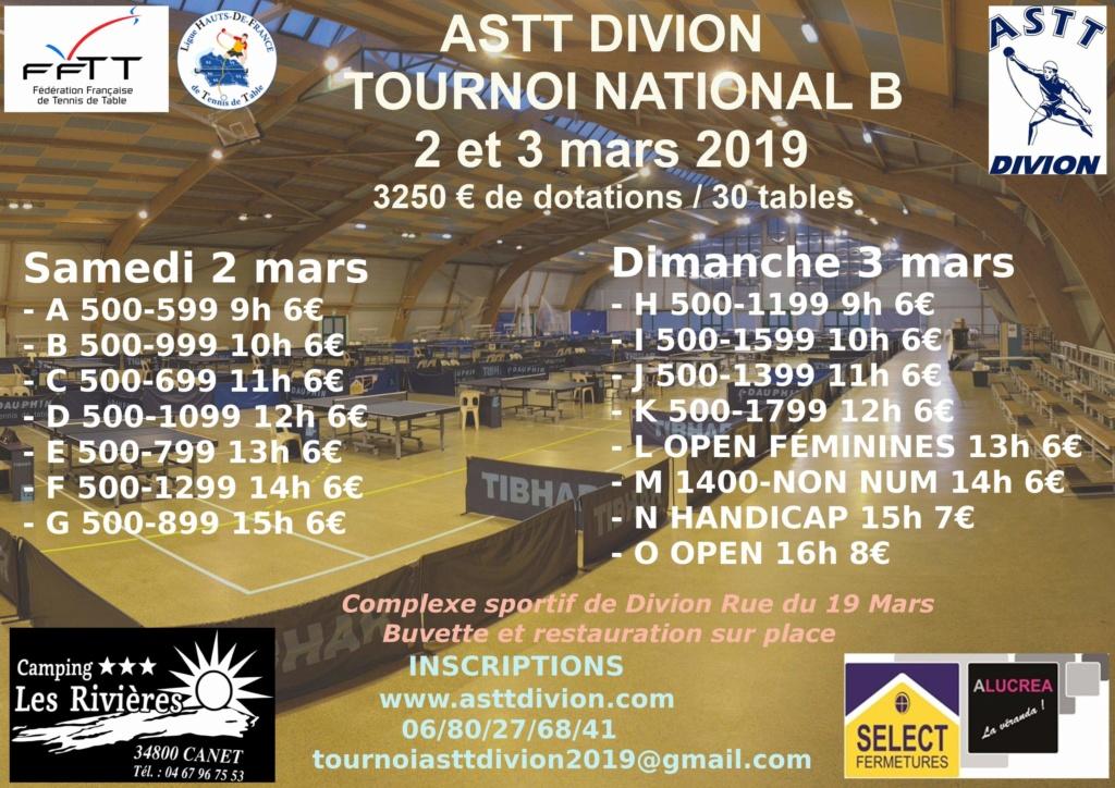 TOURNOI NATIONAL B ASTT DIVION 2 ET 3 MARS 2019 Receiv10
