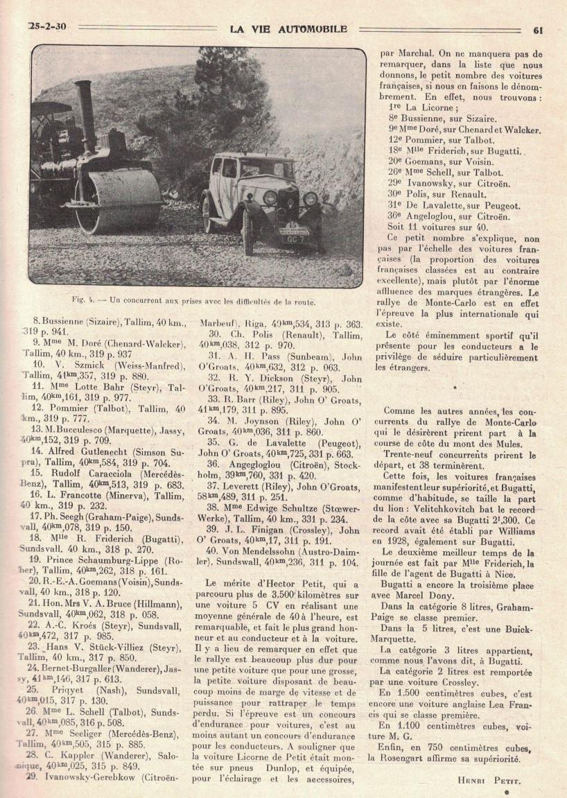 Un pilote Licorne : HECTOR PETIT 2910