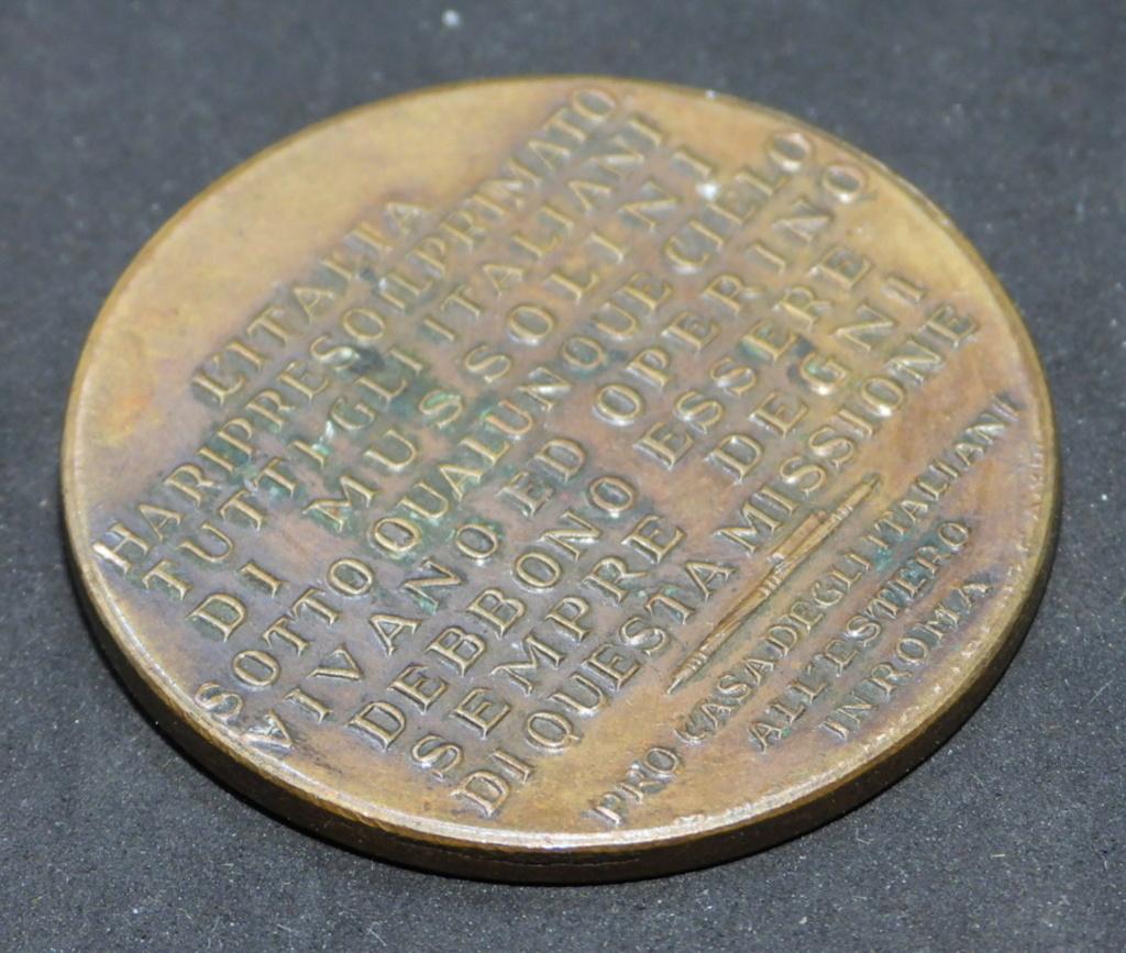 Médaille non portable italie fasciste. Dscn0279