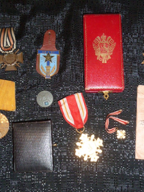 médailles, calot HJ, baïonnettes, poignards..... P1610766