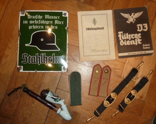 Kriegsmarine, HJ, Tinnies, Heer, Gaede, Stahlhelmbund, brevet US......... P1650933