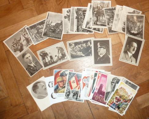 Médailles et décos en nombres, dague DLV, cartes postales dont beaucoup de SS P1670211