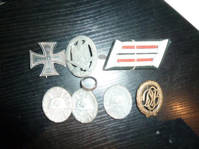 Médailles et décos en nombres, dague DLV, cartes postales dont beaucoup de SS P1670216