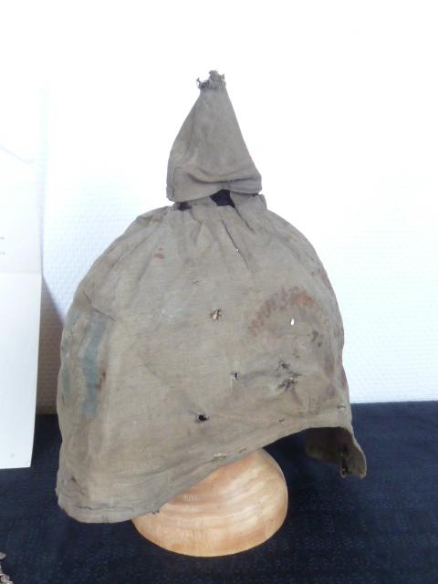 Casque à pointe, plaques et couvres casques, Main camp, HJ,etc.... P1670815