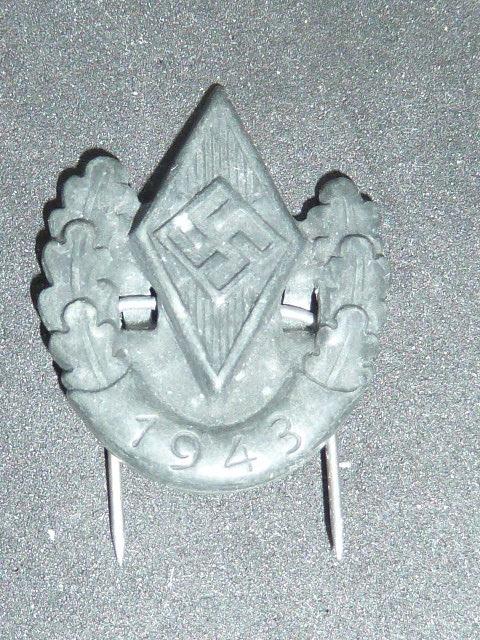 Sanitaire WH, baïonnette, NSDAP, HJ, tableau campagne de Chine P1770116