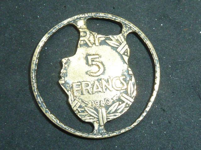 Pièce de 5 Francs ajourée P1850421