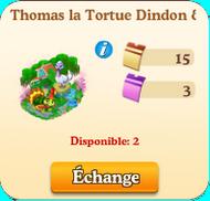 Thomas la Tortue Dindon & Tiffany la Dinde => Fourchette à Voeux Carapace  Sanddd11
