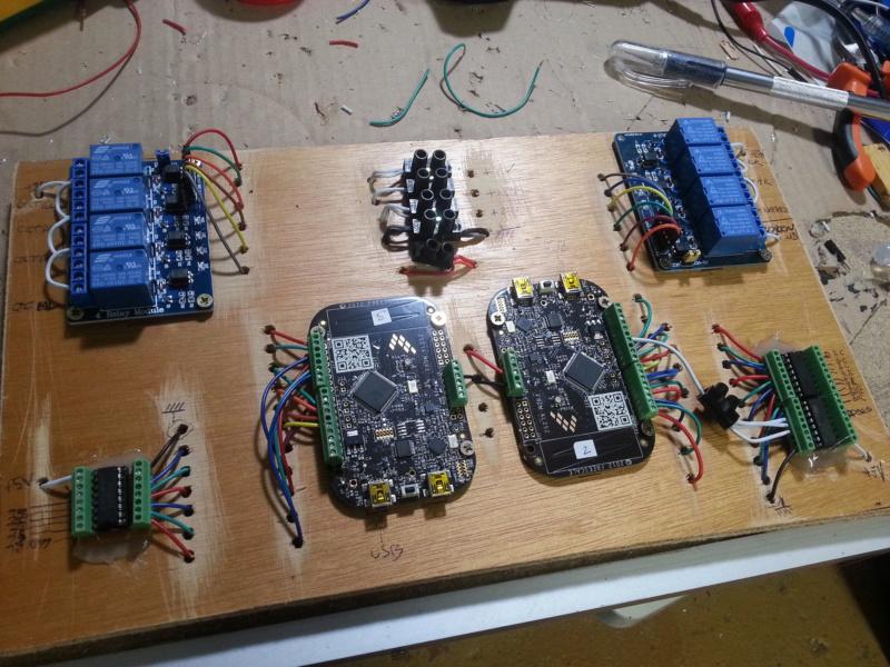 "[WIP 100%] 2° pincab, 43"" 4K/27"" fHD/Pin2DMD/SSF/LEDstrips/Contacters/Knocker/Audio LEDs 2eplan10"